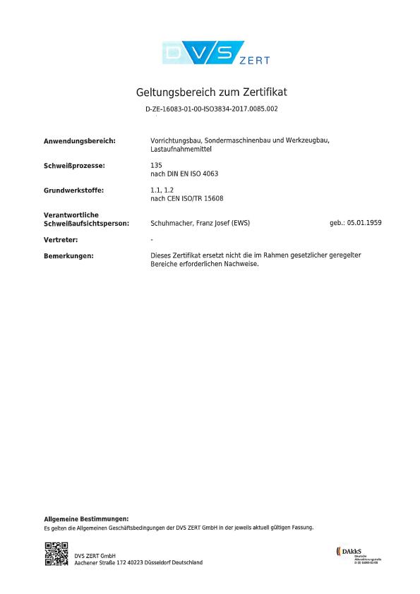 Zertifikat DIN EN ISO 3824-2 2006 2020-2023 DE Seite 2